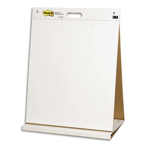 POST-IT Bloc de 20 feuilles auto-adhésives blanches Meeting chart post-it, format 50,8x58,4 cm 56427