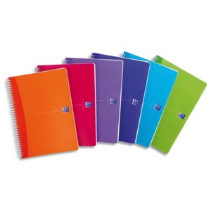 OXFORD Cahier COLOR spiralé 180 pages 5x5 21x29,7. Couverture polypro