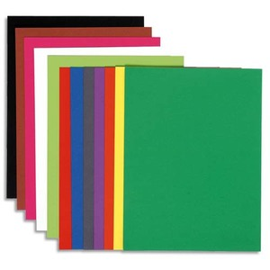 EXACOMPTA Paquet de 100 chemises Flash 220 teintes vives intenses assortis, format 320x240