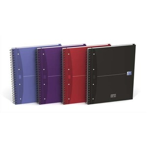 OXFORD Cahier reliure spirale 24,5 x 31,5 cm 240 pages petits carreaux couverture rigide OXFORD OFFICE